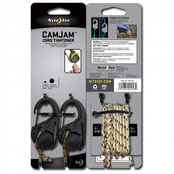 Nite Ize - CamJam (2-Pack) with Cord - Tendeur de câble