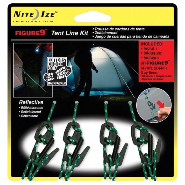 Nite Ize - Figure9 Closed Zelt-Set - Zeltleinen-Set
