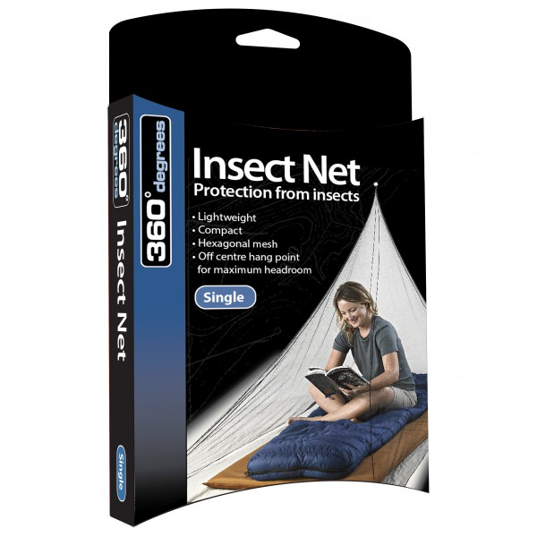 360 Degrees - Mosquito Insect Net Single - Myggnett
