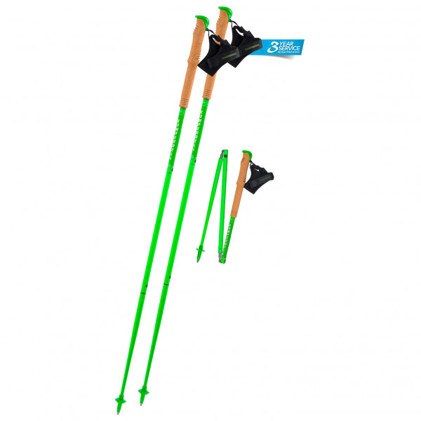 Carbon FXP Team Green Foldable - Running poles
