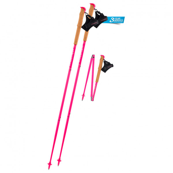Carbon FXP Team Pink Foldable - Running poles