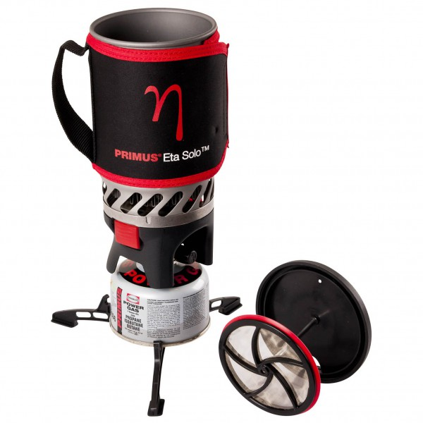 Primus - Eta Solo with Coffee Press - Storm-proof stove