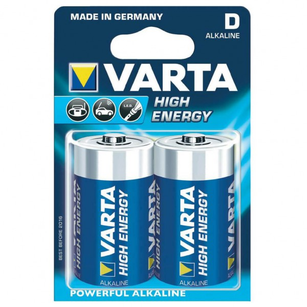 Varta - Alkaline Batterien High Energy Monozelle 2-Pack