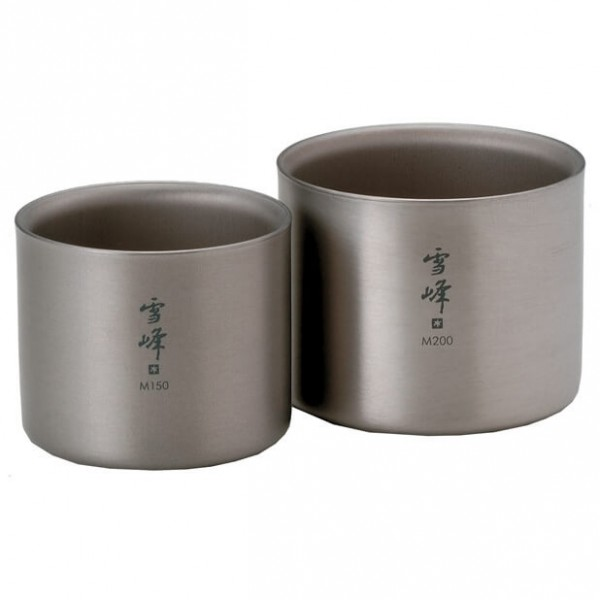 "Snow Peak - Titanium Stacking Mug ""Seppou"" - Set S"