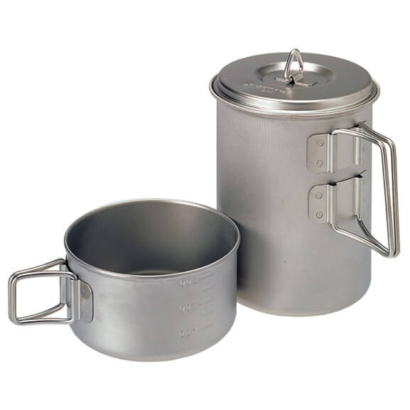 Snow Peak - Mini Solo Cook Set Titanium - Astia-setti