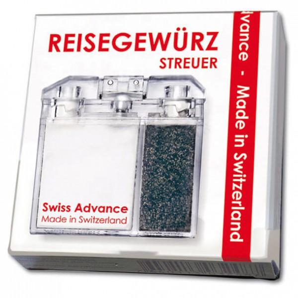 Swiss Advance - Distributeur à épices de voyage sel+poivre
