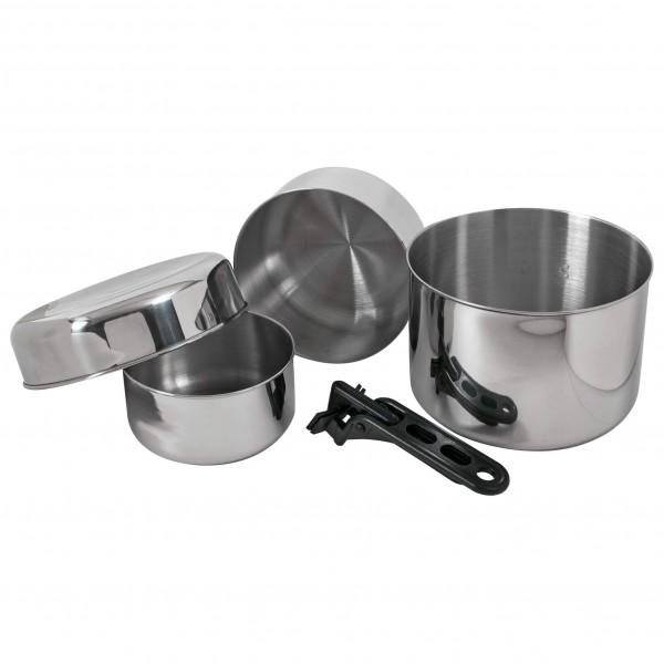 Basic Nature - Biwak stainless steel 3 - Ruoanvalmistussetti
