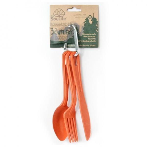 EcoSouLife - 3PC Cutlery Set - Set de couverts