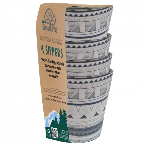 EcoSouLife - 4 Sippers 4 Pack - Bowl set