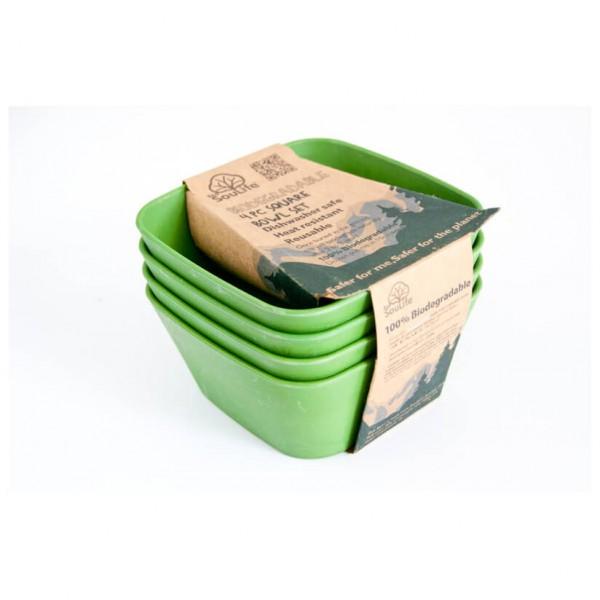 EcoSouLife - 4 Piece Square Bowl Set - Avainsarja