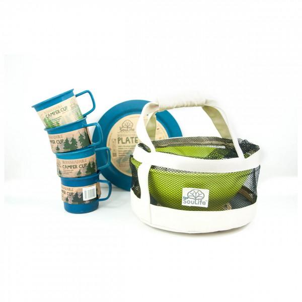EcoSouLife - Eco Dine - Kit de vaisselle