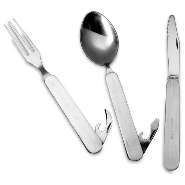 Lifeventure - Folding Knife Fork & Spoon Set