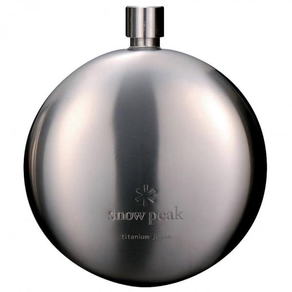 Snow Peak - Round Titanium Flask - Hip flask