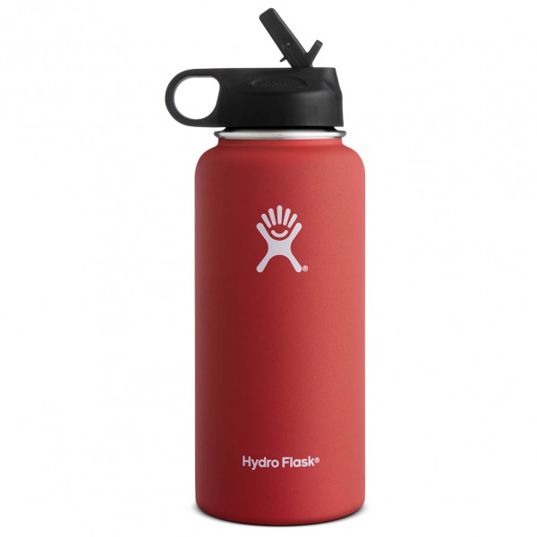 Hydro Flask - Wide Mouth Hydro Flask with Straw Lid - Eristetty pullo