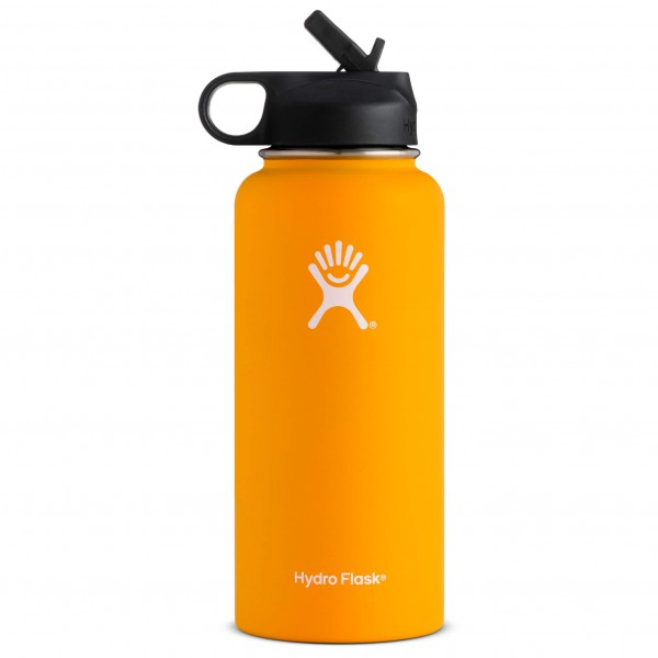 Hydro Flask - Wide Mouth with Straw Lid - Eristetty pullo