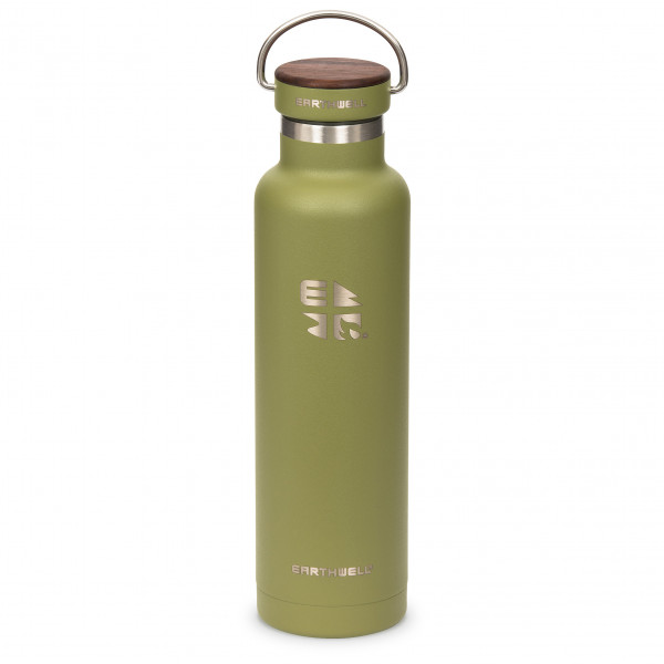 Earthwell - Woodie Walnut Cap Iso - Insulated bottle