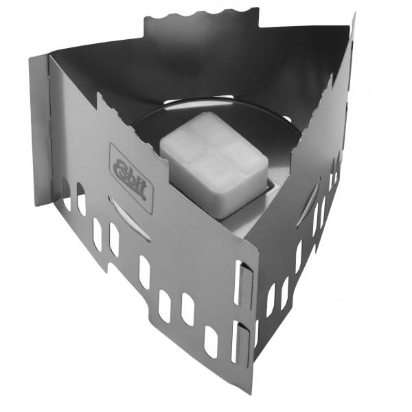 Esbit - Edelstahl Trockenbrennstoff-Kocher - Puukäyttöiset retkikeittimet