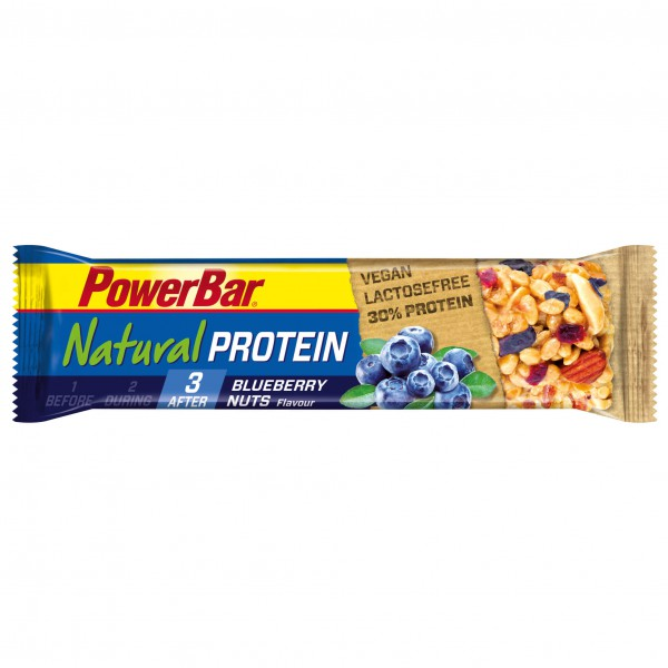PowerBar - Natural Protein (Vegan) Blueberry Nuts - Recoveryriegel