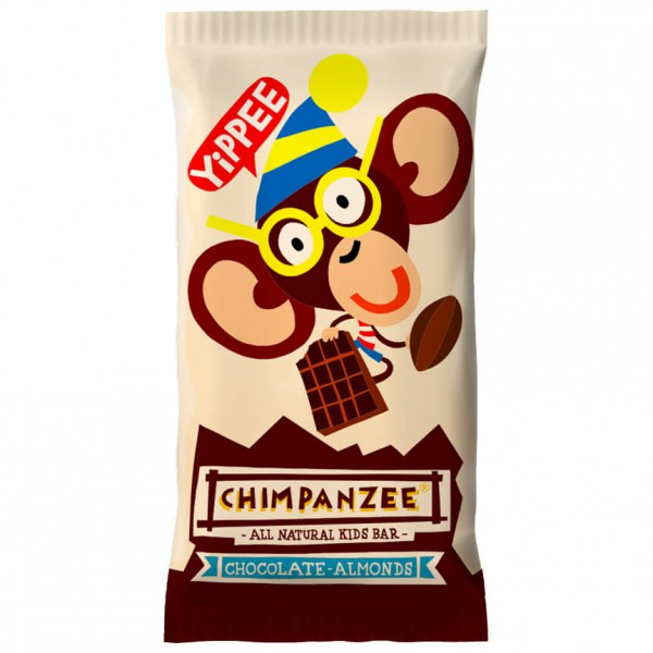 Chimpanzee - Yippee Kids Bar Chocolate/Almonds