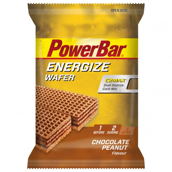 PowerBar - Energize Wafer Chocolate Peanut - Energy bars