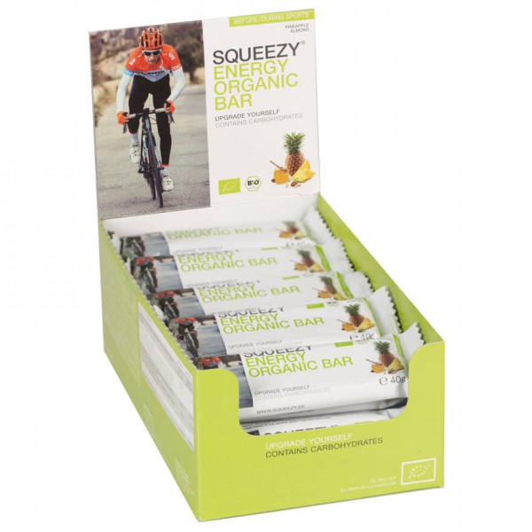 Squeezy - Energy Organic Bar Ananas-Mandel - Energieriegel