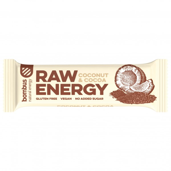 Bombus - Raw Energy Coconut & Cocoa - Energiapatukat