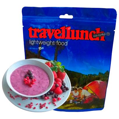 Travellunch - Joghurt - Dessert mit Waldbeeren