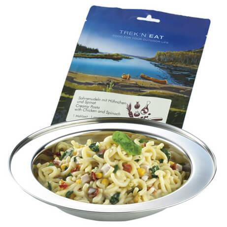 Trek'n Eat - Hühnchen in Sahnenudeln + Spinat