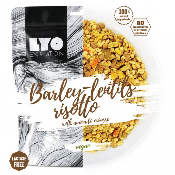 Lyo Food - Barley-Lentils-Risotto With Avocado Mousse