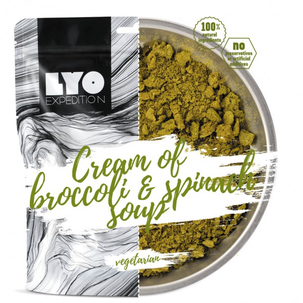 Lyo Food - Brokkoli-Spinat Cremesuppe
