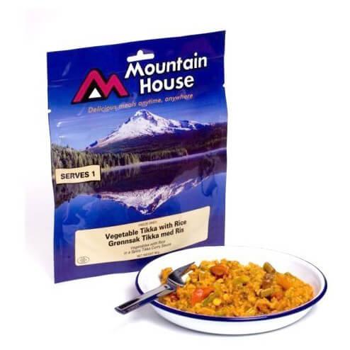 Mountain House - Würziges Currygemüse (Tikka) mit Reis
