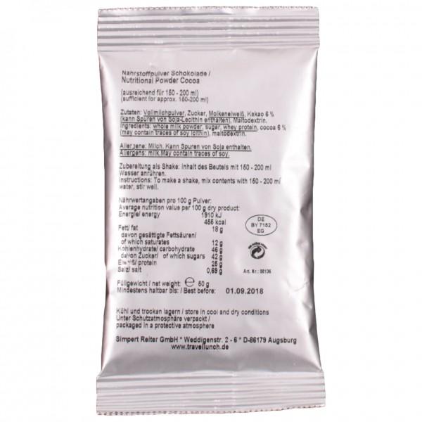 Travellunch - Nährstoffpulver Schokolade