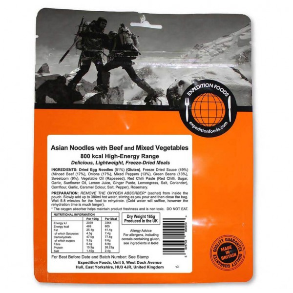 Expedition Foods - Asian Noodles/Beef (High-Energy)