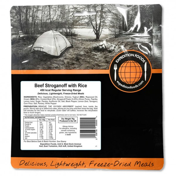 Expedition Foods - Beef Stroganoff With Rice (Regular)