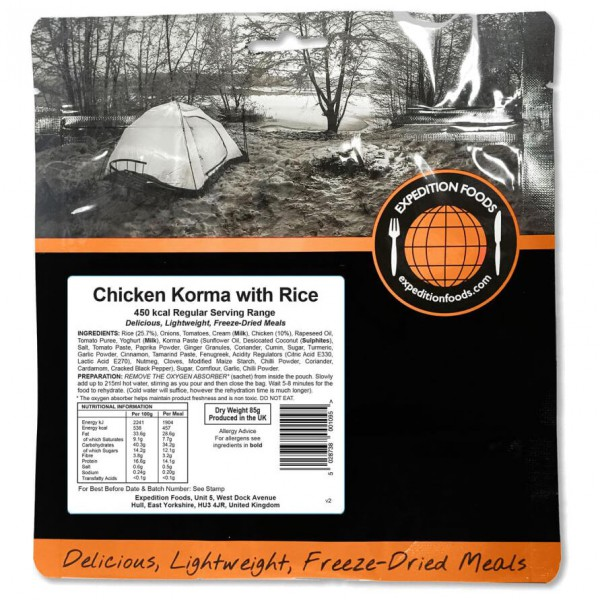 Expedition Foods - Chicken Korma With Rice (Regular)