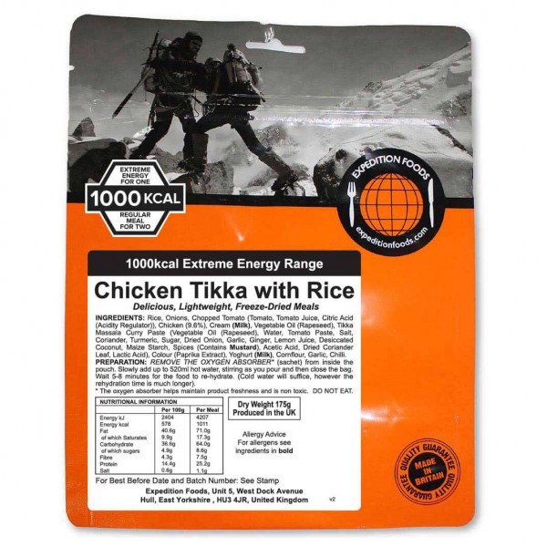 Expedition Foods - Chicken Tikka With Rice (Extreme Energy)