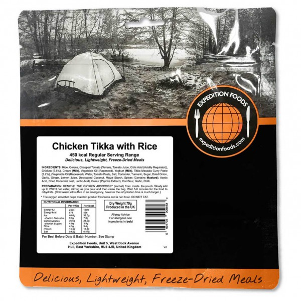 Expedition Foods - Chicken Tikka With Rice (Regular)
