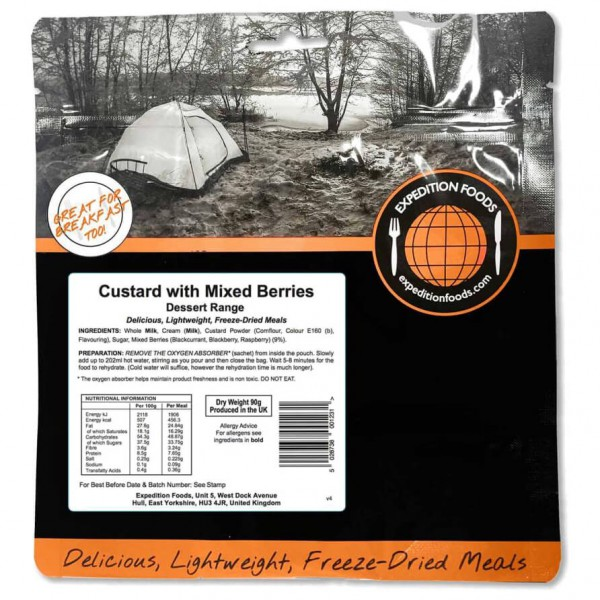 Expedition Foods - Custard With Mixed Berries