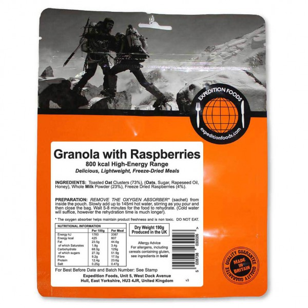 Expedition Foods - Granola With Raspberries (High Energy)