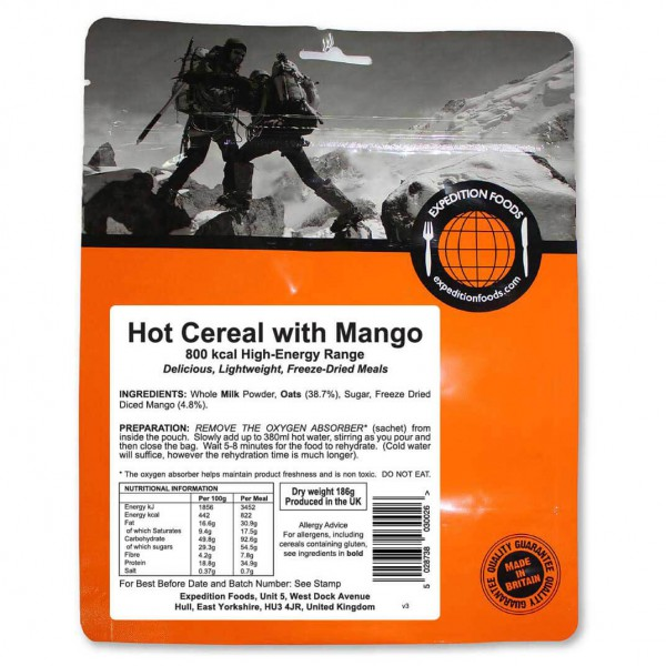 Expedition Foods - Hot Cereal Start With Mango (High Energy)