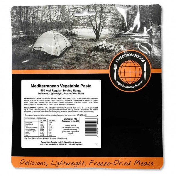 Expedition Foods - Mediterranean Vegetable Pasta (Regular)