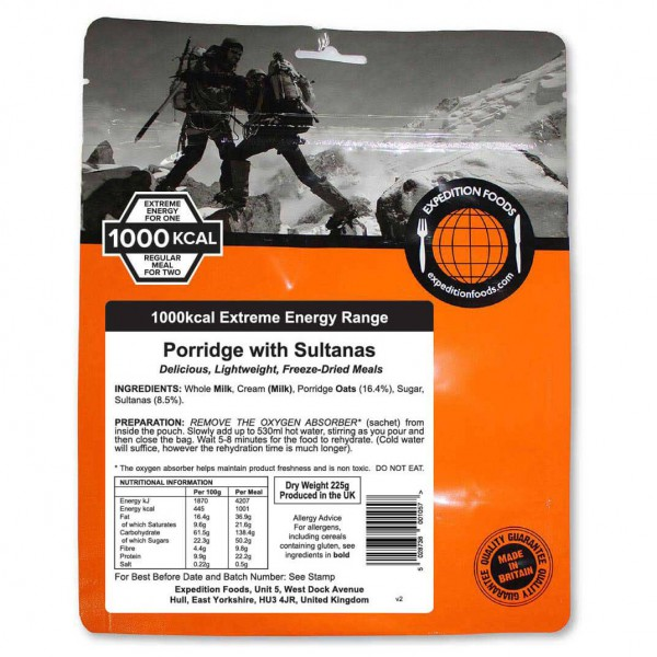 Expedition Foods - Porridge With Sultanas (Extreme Energy)