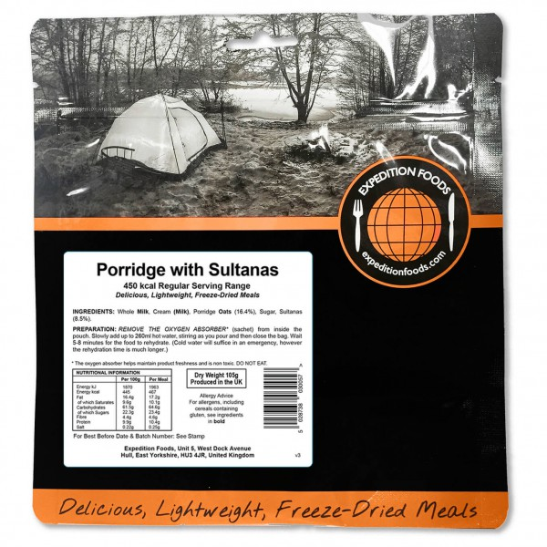 Expedition Foods - Porridge With Sultanas (Regular)