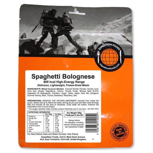 Expedition Foods - Spaghetti Bolognese (High Energy)