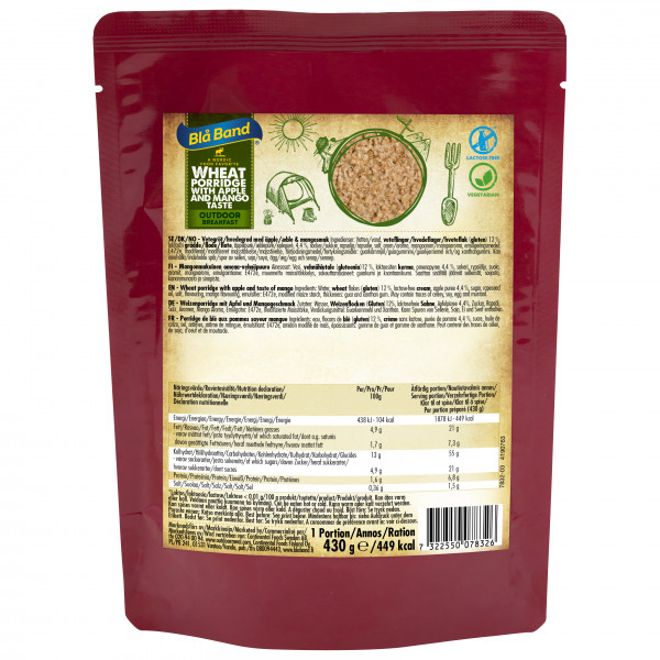 Blå Band - Wheat Porridge with Apple and Mango