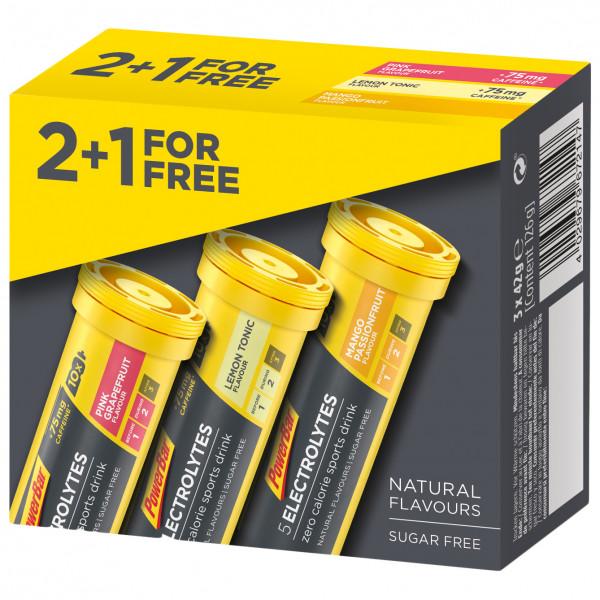PowerBar - 5Electrolytes 2+1 Gratis - Multiflavour Vorteilspack - Nahrungsergänzungsmittel