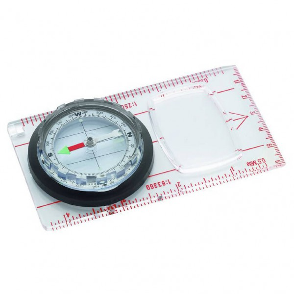 Herbertz - Plattenkompass mit Lupe - Compass