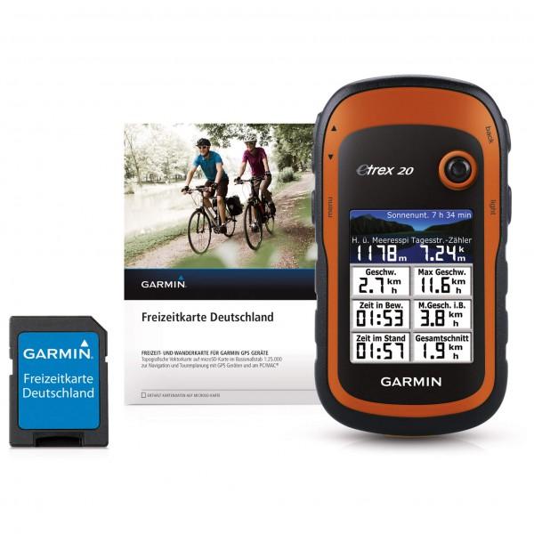 Garmin - eTrex 20 + Freizeitkarte Deutschland - GPS-Gerät