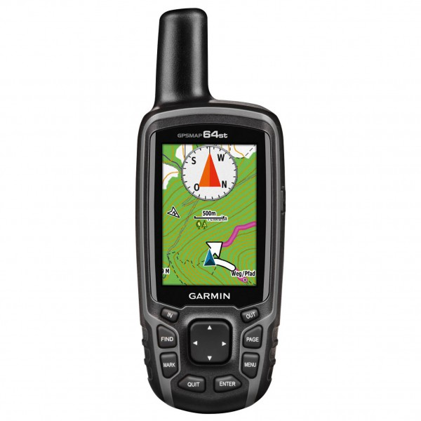 Garmin - GPSMAP 64ST inkl. Freizeitkarte Europa - GPS-Gerät