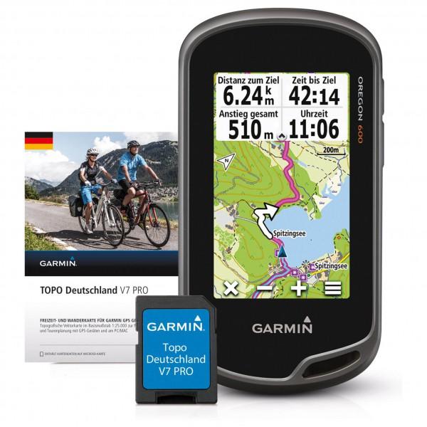 Garmin - Oregon 600 + Topo Deutschland V7 Pro Bundle - Dispositivo GPS